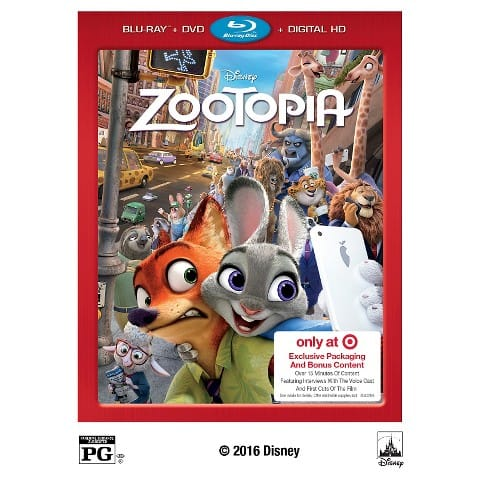 Zootopia Pre-Order (Blu-ray/DVD/Digital) + $5 Target Gift Card  $23 + Free Shipping on $25