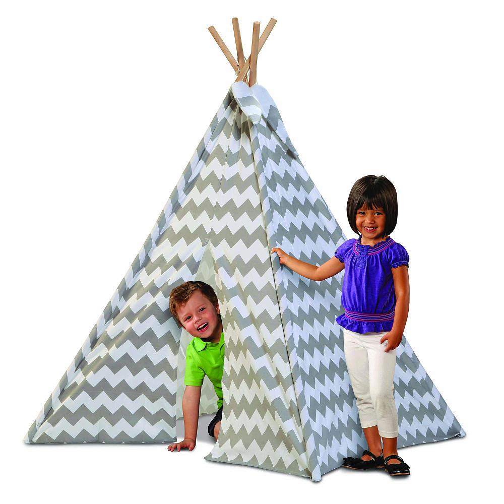 Discovery Kids Canvas Tee-Pee (Grey Chevron) @ TRU + FREE shipping - $36