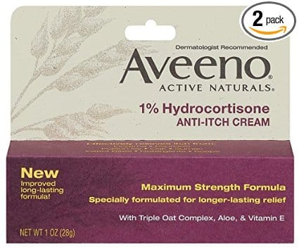 Aveeno Anti-Itch Cream, 1% Hydrocortisone, Maximum Strength, 1 Ounce (Pack of 2) $2.56 w/ 15% Subscribe and Save @ Amazon