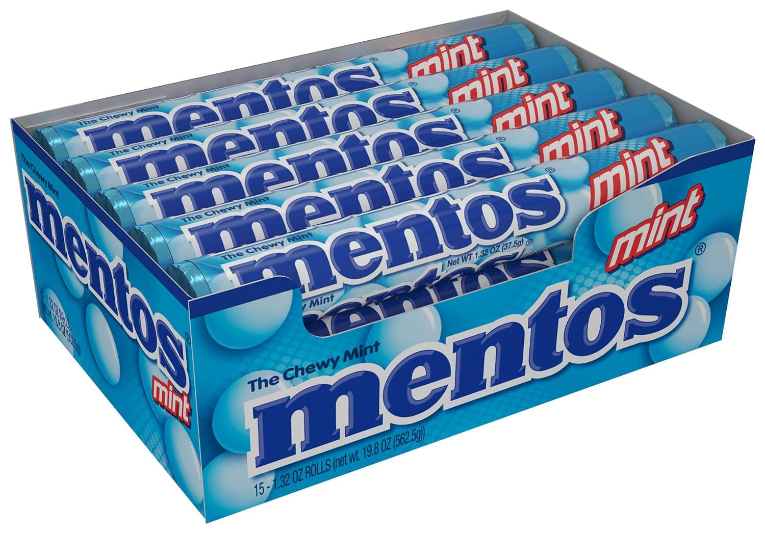 Mentos Rolls, Mint, 1.32 Ounce (Pack of 15) $5.18 AC and S&S