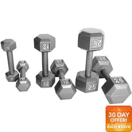 CAP Barbell Cast Iron Hex Dumbbell: 80lbs $54.20, 60lbs  $50.80 + Free Shipping