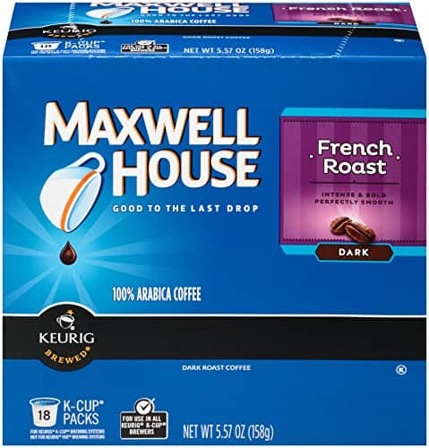 18-Count Maxwell House French Roast K-Cup $5.99 or Less + Free Shipping Amazon.com