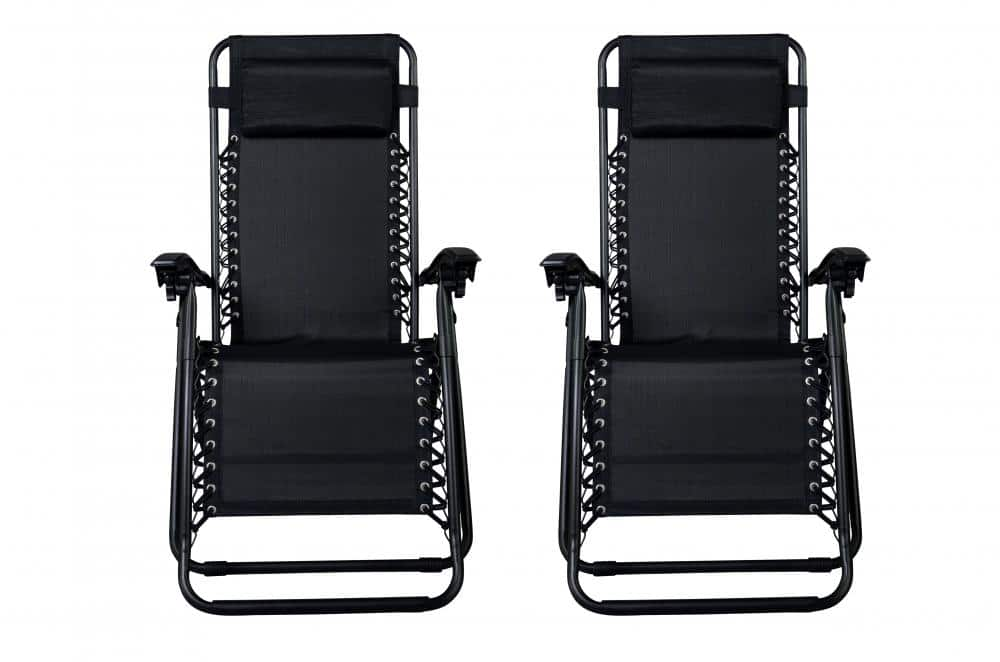 Zero Gravity Lounge Patio Chairs (Black): 4-Pack $85, 2-Pack  $50 + Free Shipping