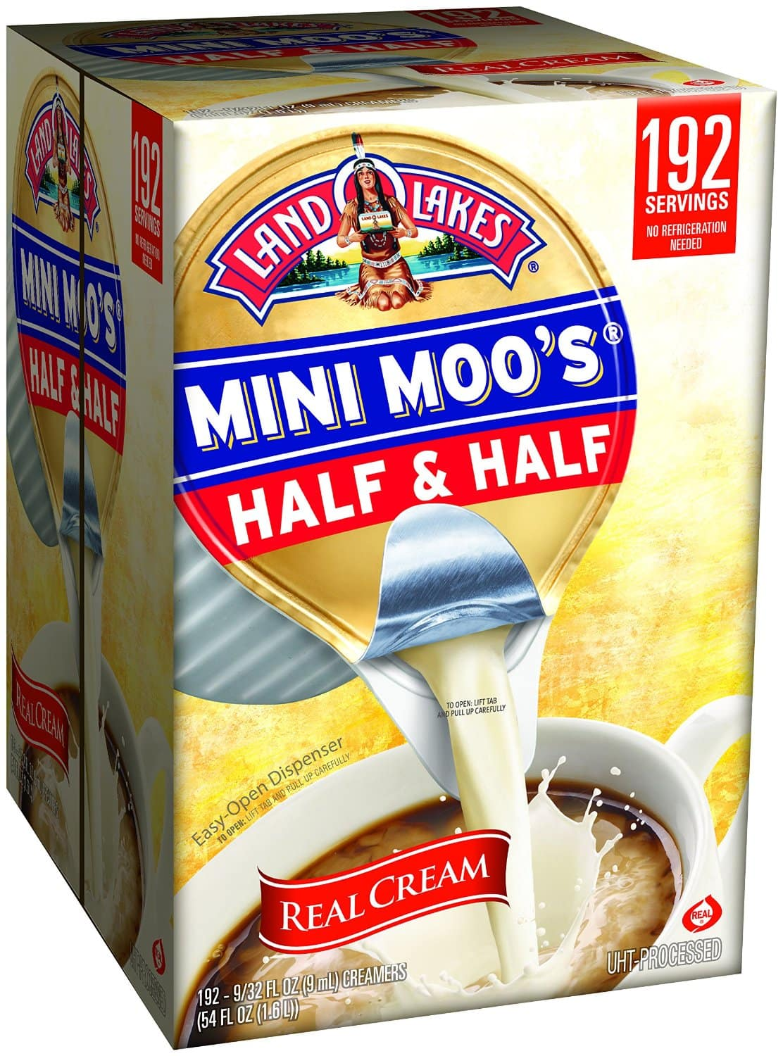 Land Lakes Mini Moos Creamer, Half and Half Cups, 192 Count - $6.99 w/S&S @ Amazon.com