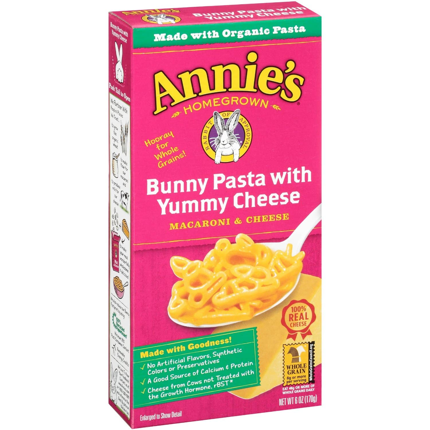 Annie's Bunny Pasta with Yummy Cheese Macaroni & Cheese 6 oz. Box (Pack of 12) $8.32