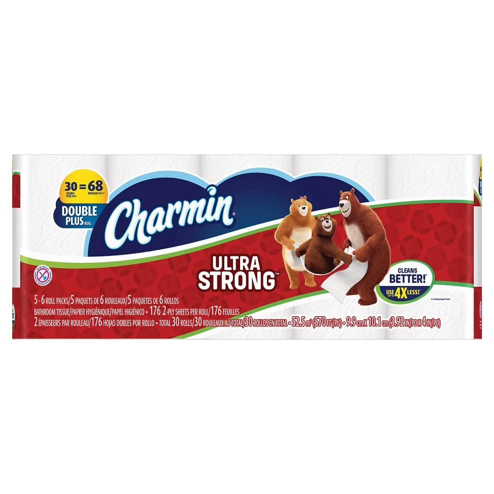 90-Ct Charmin Ultra Strong or Soft Double Plus Toilet Paper Rolls $43.58 + $10 Gift Card + Free Shipping Target.com