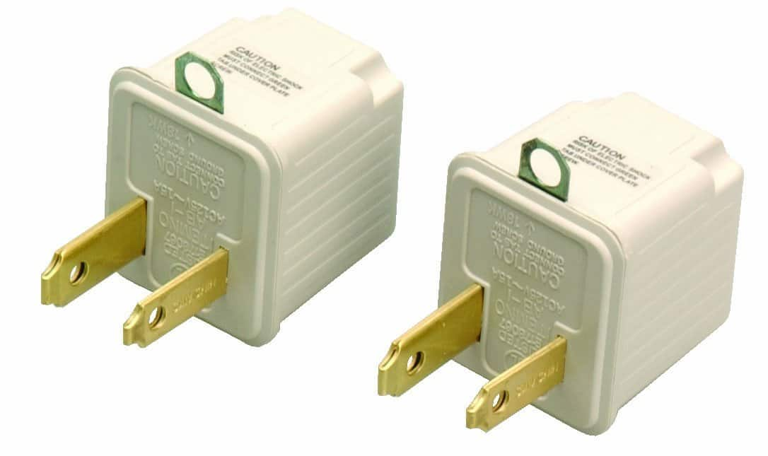 2-Pack Coleman 3-Prong To 2-Prong Cable Adapter  $1.15