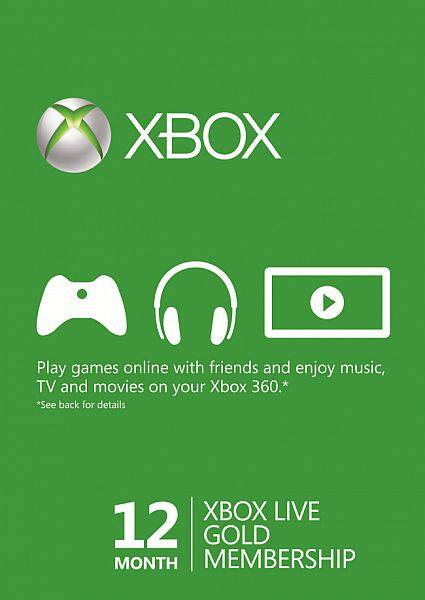 Xbox Live Gold Membership 12 Months - $37.99