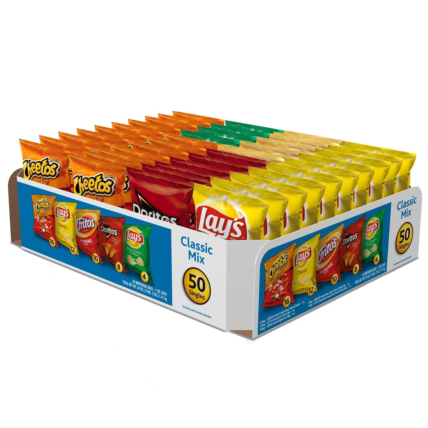 2-Pack of 50-Ct Frito-Lay Classic Mix Variety Pack $19.28 or less + free shipping @ Amazon