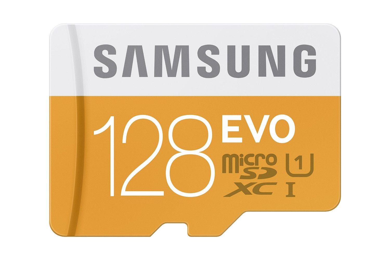 128GB Samsung EVO Class 10 MicroSDXC Card w/ Adapter  $33 + Free Store Pickup