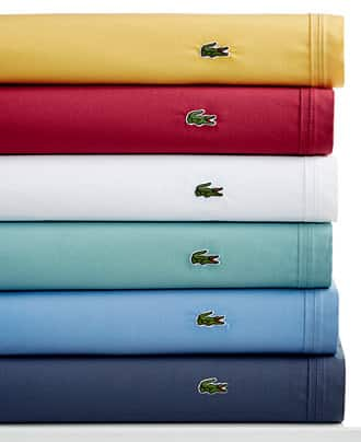 Lacoste Solid or Printed Cotton Percale Sheet Sets (King or CA King) $39.99 @ Macy's