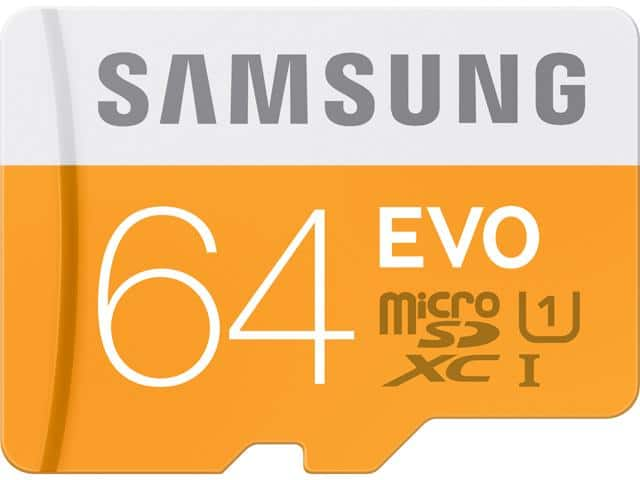 Samsung EVO Class 10 microSD Card w/ Adapter: 64GB  $17 & More + Free S&H
