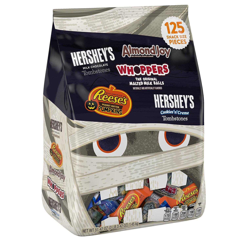 51.42 oz Hershey's Halloween Snack Size Assortment (125-Pieces) $9.74 + free shipping w/ prime @ Amazon