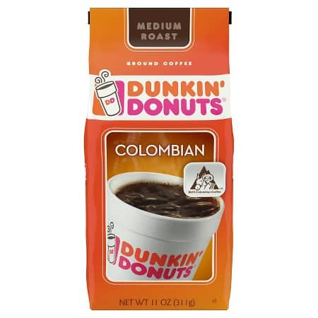 3-Packs Dunkin' Donuts Coffee: 12oz Medium Roast Whole Bean $11.98, 11oz Colombian $11.38 + Free Shipping Target.com