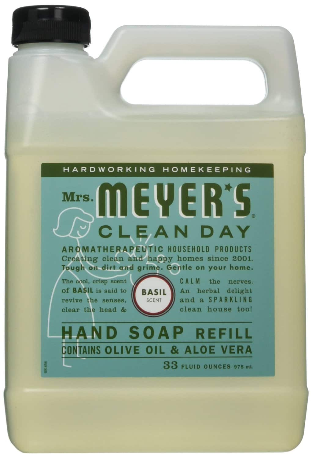 33oz Mrs. Meyers Liquid Hand Soap Refill (Basil Scent) $3.60 or Less + Free Shipping Amazon.com