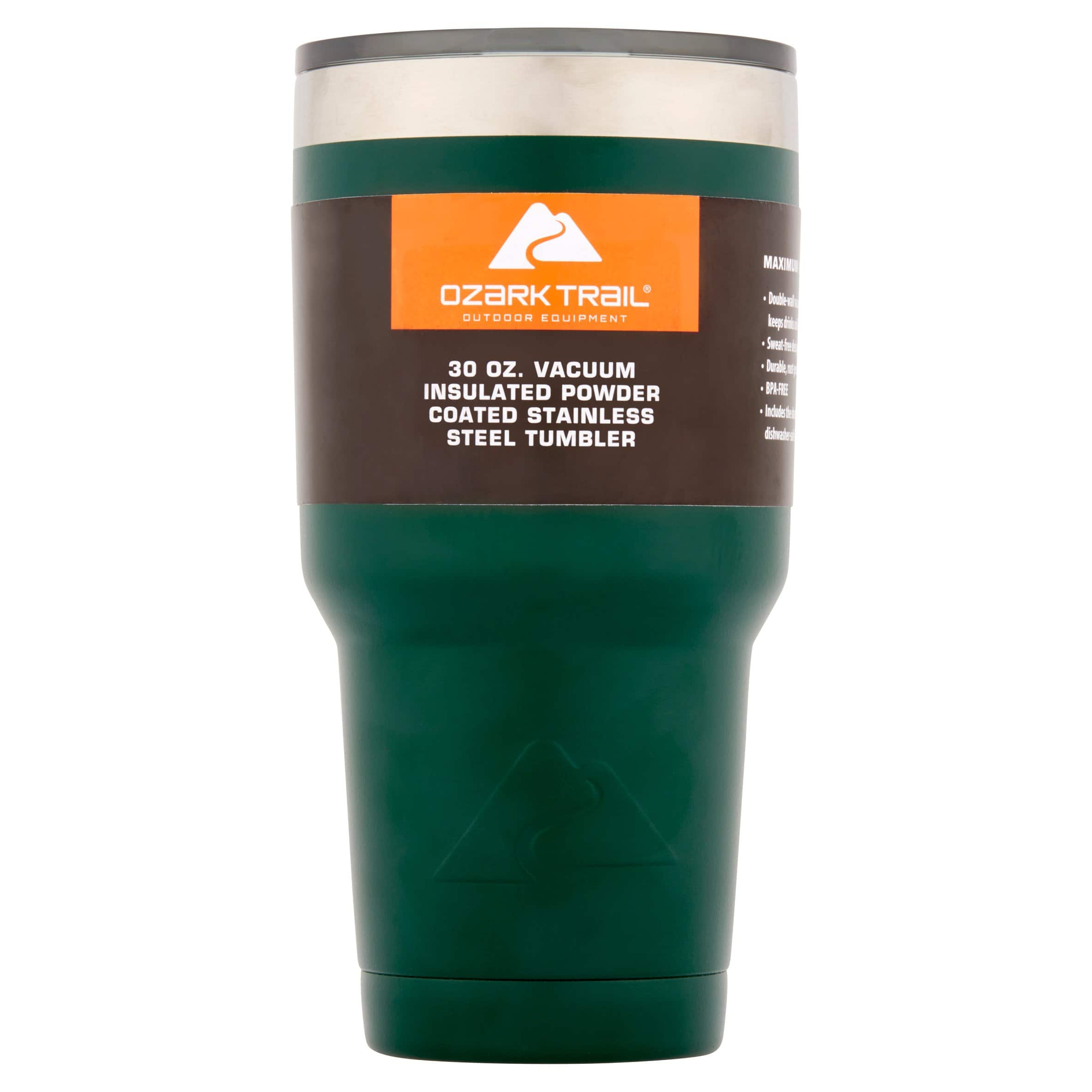 30 oz Ozark Trail Double Wall Vacuum Sealed Tumbler $5.00 Free Store Pickup. GREEN COLOR ONLY