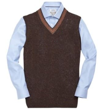 Jos.A.Bank Clearance: Lambswool Sweater Vest - Slickdeals.net