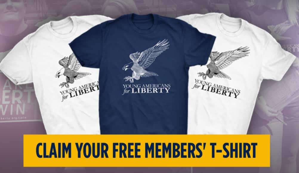 Young Americans for Liberty T-shirt (Navy or White)  Free + Free Shipping