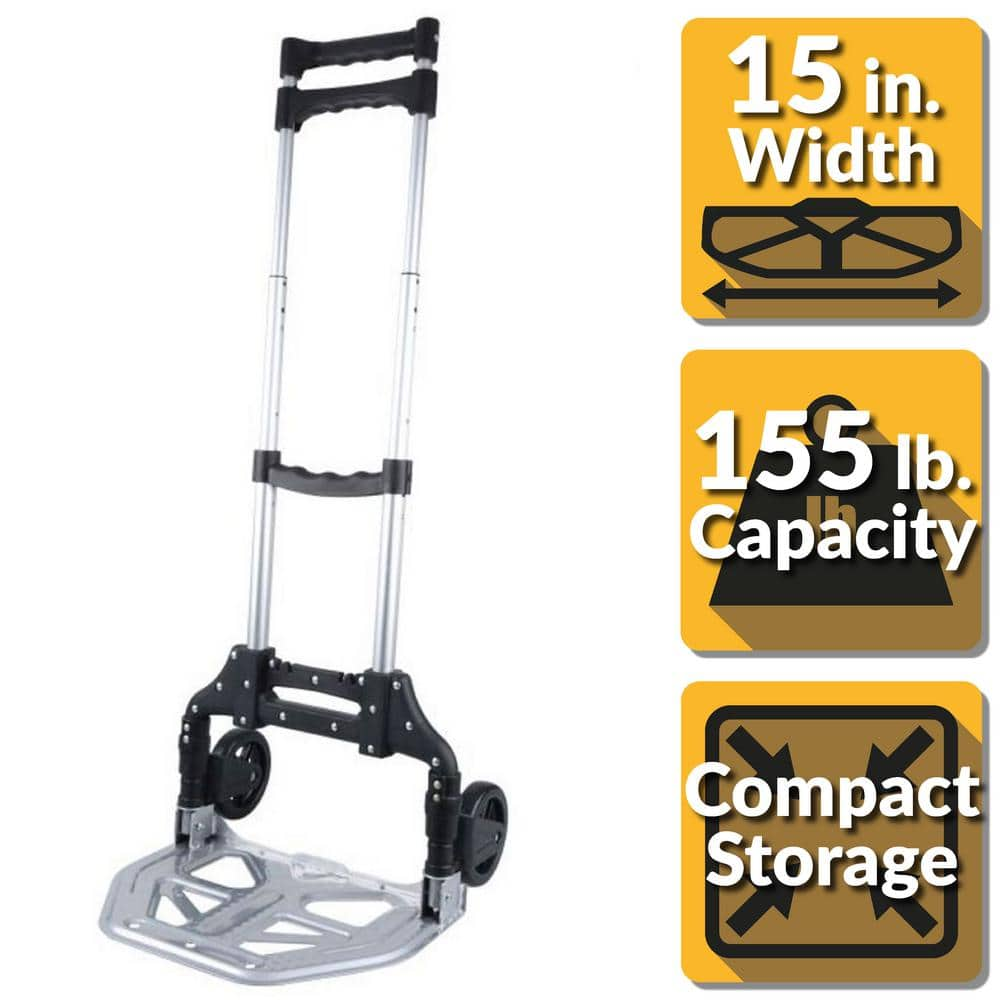 Olympia Pack-N-Roll Folding Hand Truck/Cart w/ Steel Toe Plate (150lb Capacity) $16.99 + Free Store Pickup Homedepot.com