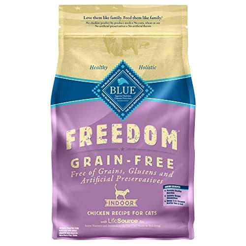 Amazon has BLUE Freedom Grain Free Adult Dry Cat Food [Indoor Fish Recipe, 11 lb] $21.99