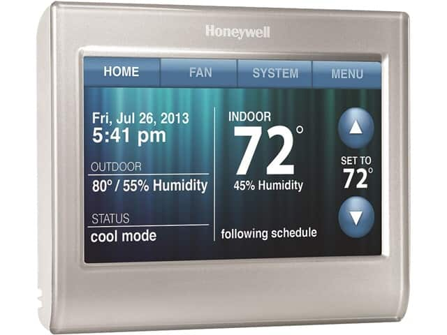 Honeywell Wi-Fi Smart Thermostat w/ Customizable Color Touchscreen (RTH9580WF) $155 FS neweggflash