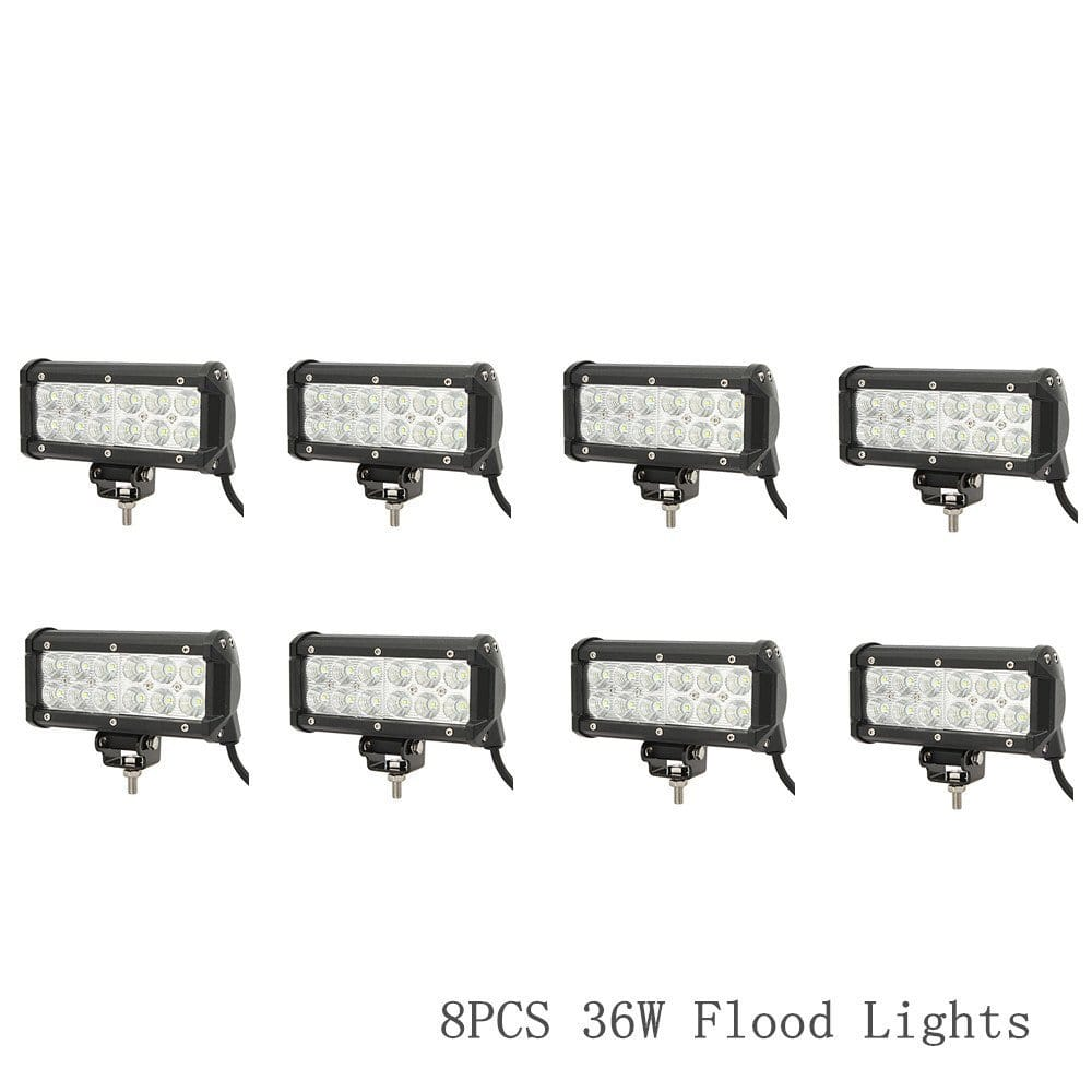 8 piece 36W LED Flood Lights - $60.99 with free shipping