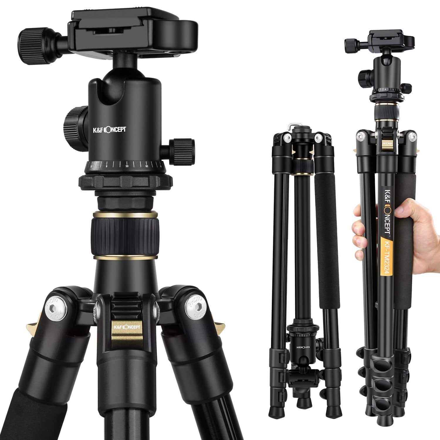62'' Lightweight and Compact Aluminum Camera Tripod - $60 with free shipping after promo code