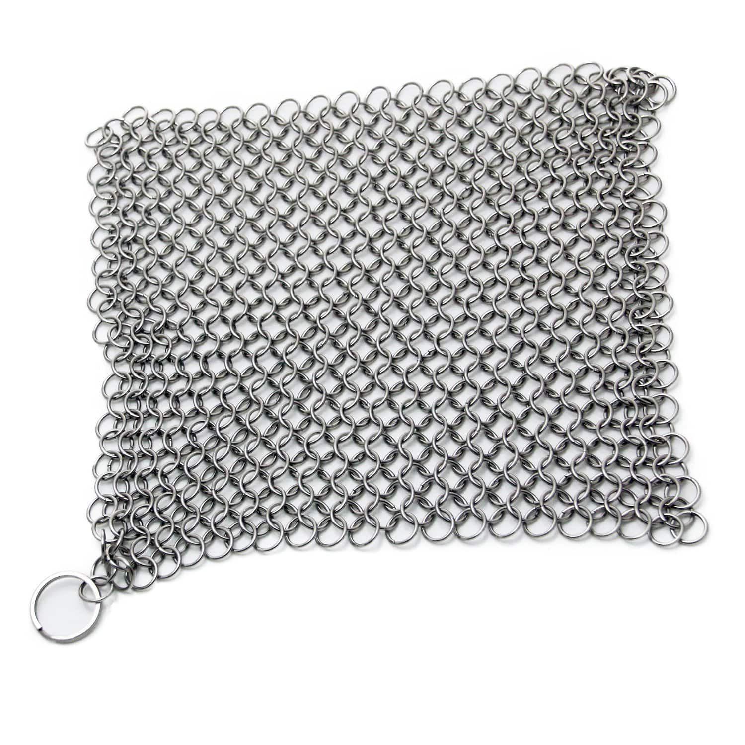 """8""""x6"""" Stainless Steel 316L Cast Iron Cleaner Chainmail Scrubber - $6.29 after promo code and free shipping"""