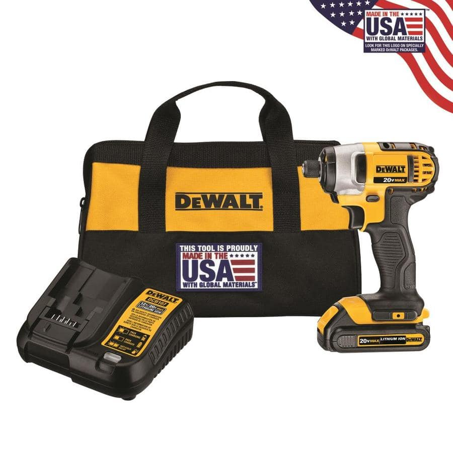 Lowes - DEWALT 20-Volt Max Variable Speed Cordless Impact Driver Kit (1-Battery Included) $89