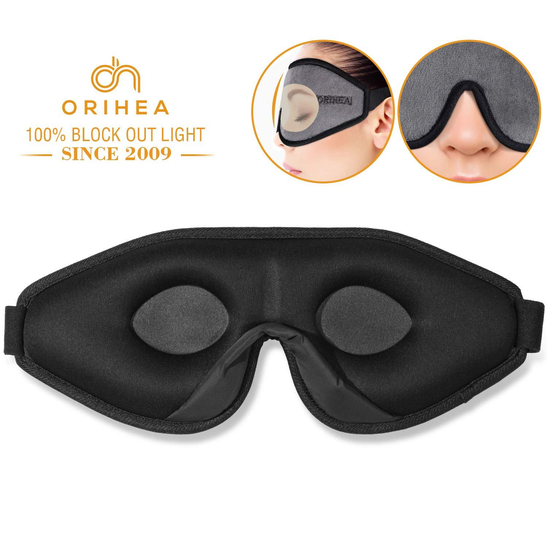 Sleep Mask for Women & Men, OriHea Upgraded 3D Contoured Eye