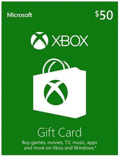 Xbox Gift Card Digital Code - $50 for $42.50, $100 for $85 (Email delivery)