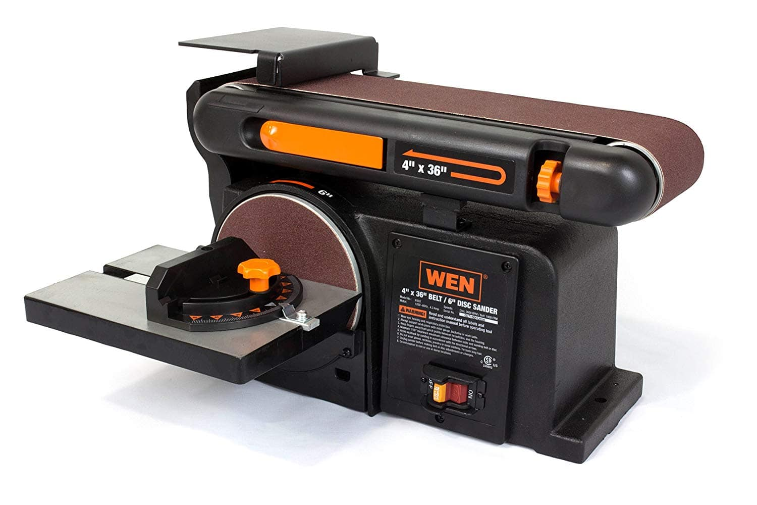 WEN 6502T 4.3-Amp 4 x 36 in. Belt and 6 in. Disc Sander with Cast Iron Base [6-inch Disc w/ Cast Iron Base] $95.83
