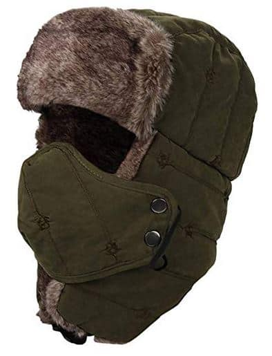 YOOCOOL Unisex Winter Trooper Trapper Hat Hunting Hat Ushanka Ear Flap Chin Strap and Windproof Mask $10.39