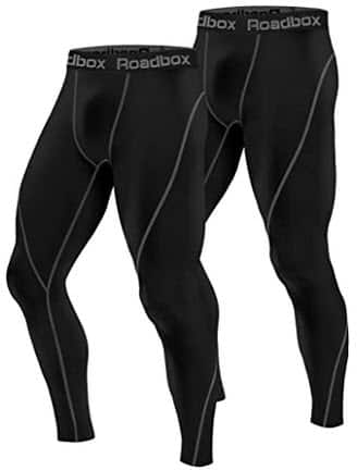 Roadbox Men's Compression Pants 2 Pack, Workout Warm Dry Cool Sports Leggings Tights Baselayer $13.98