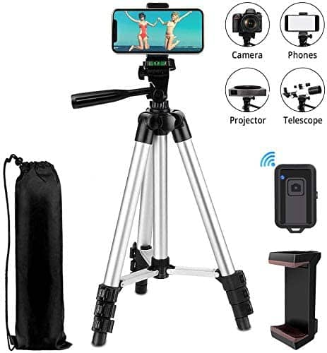 "42"" Aluminum Lightweight Portable Camera Tripod for Phone/Camera with Wireless Bluetooth Remote - 9.99 $9.99"