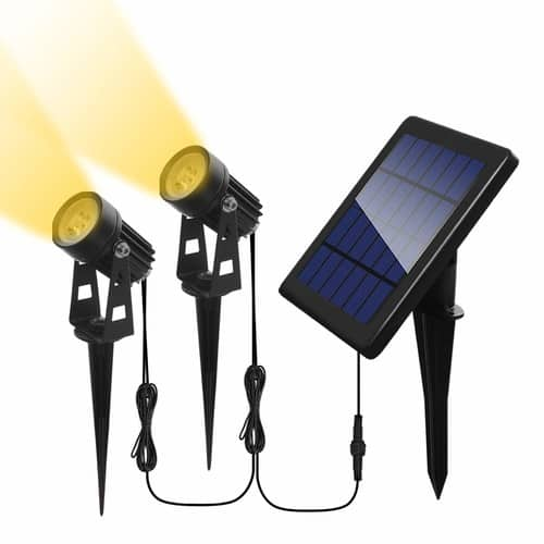 Otdair Solar Spotlights Outdoor, Led Solar Powered Landscape Lights 2 in 1 Bright Warm White Lights IP65 Waterproof Adjustable Light for Path Garden Yard Patio (2 Packs) $19.99