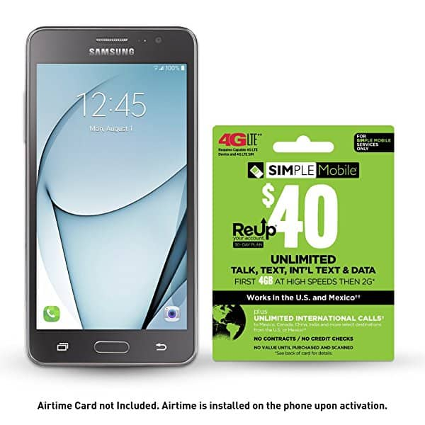 Simple Mobile Samsung Galaxy ON5 Prepaid Smartphone