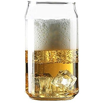 Can Shaped Beer Glass 4-Pack! $9.99