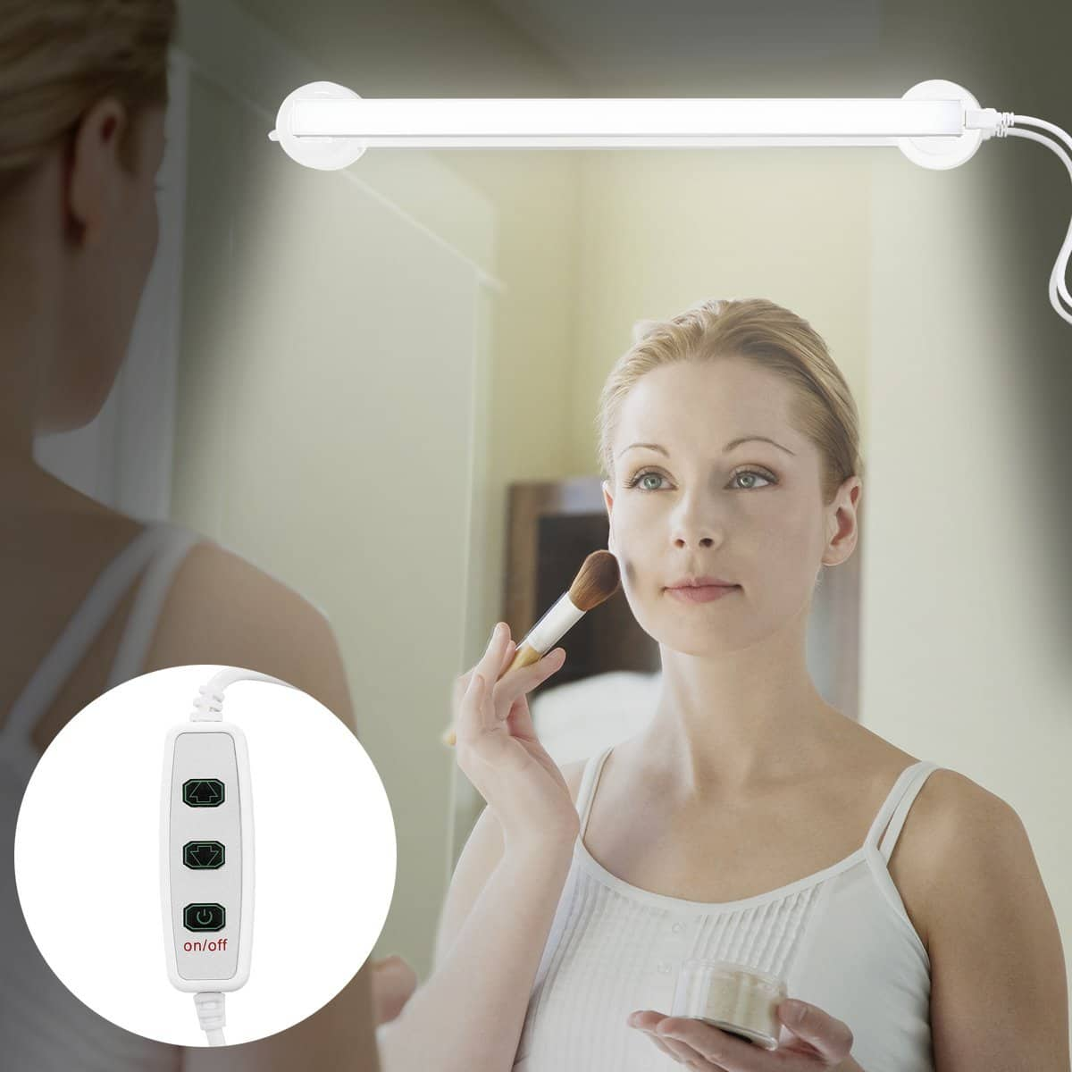 Adhesive LED Vanity Mirror Light - Makeup Light with 360 degree rotation $13.29