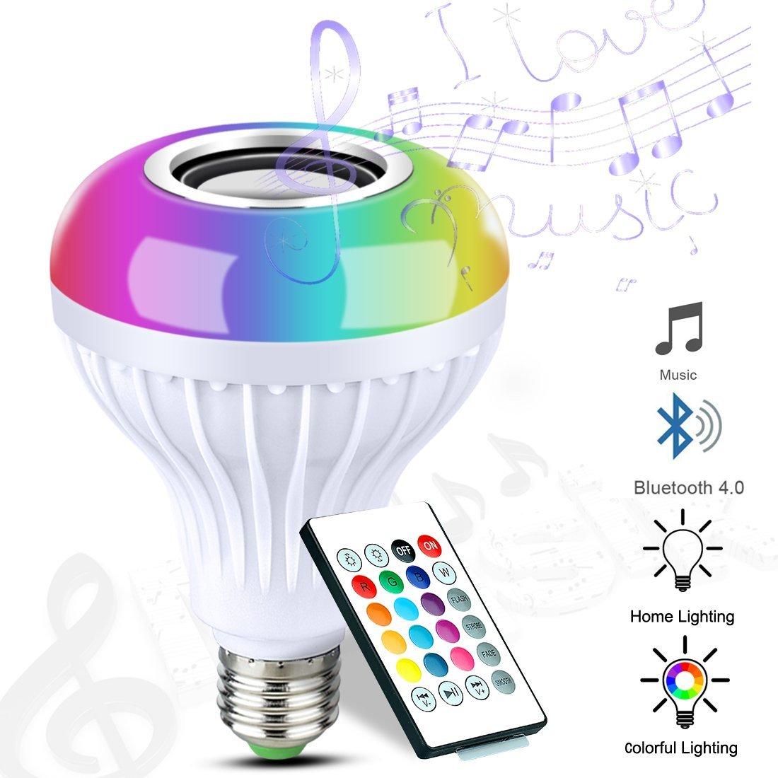 Bluetooth RGB Lightbulb (Audio-Capable) $8.99