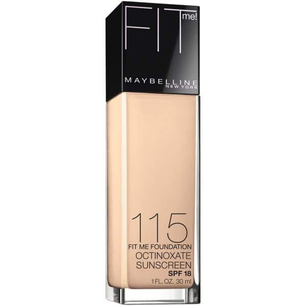 $2.72  Maybelline New York Fit Me! Foundation, 115 Ivory, SPF