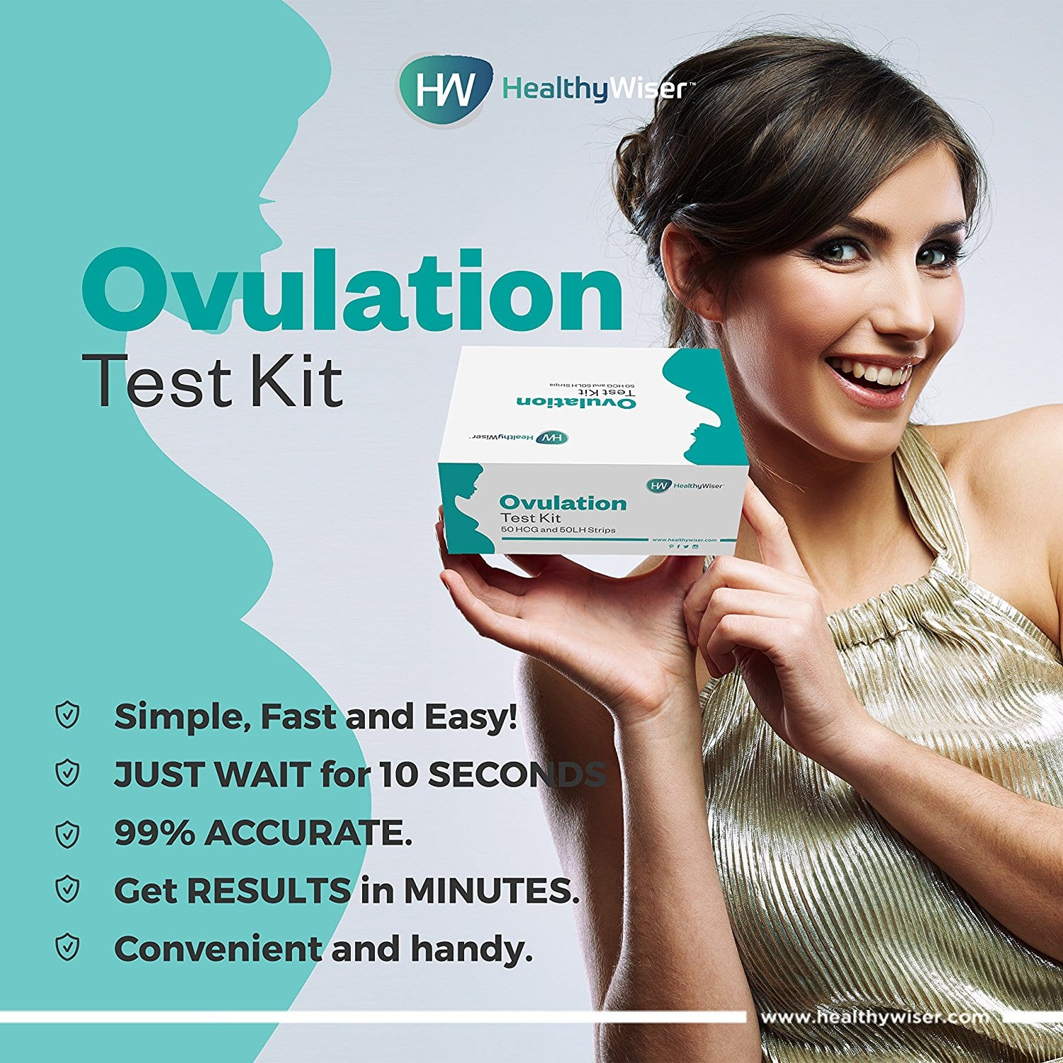 50 Pregnancy Test & 50 Ovulation Test Strips $19.91