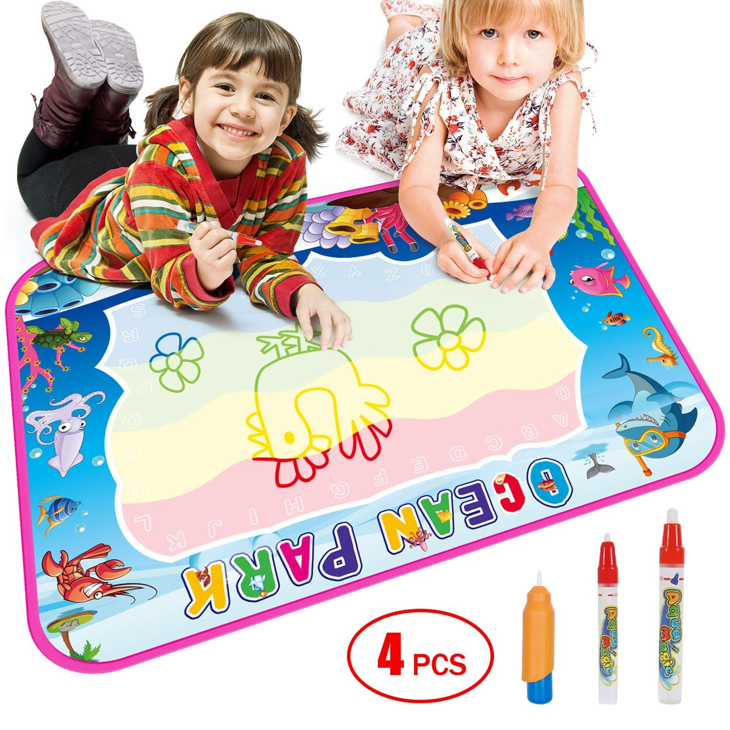 Drawing Doodle Mat, Painting Writing Magic Mat with 3 Magic Water Pens, for Kids Girl Boy Gift $9.95 + F/S