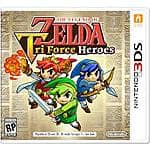 Zelda: TriForce Heroes (3DS) $34.99 via Amazon (Prime Only)