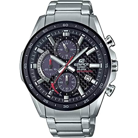 Casio Men's Edifice Quartz Watch with Stainless-Steel Strap, Silver, 22 (Model: EQS-900DB-1AVCR) $79.99
