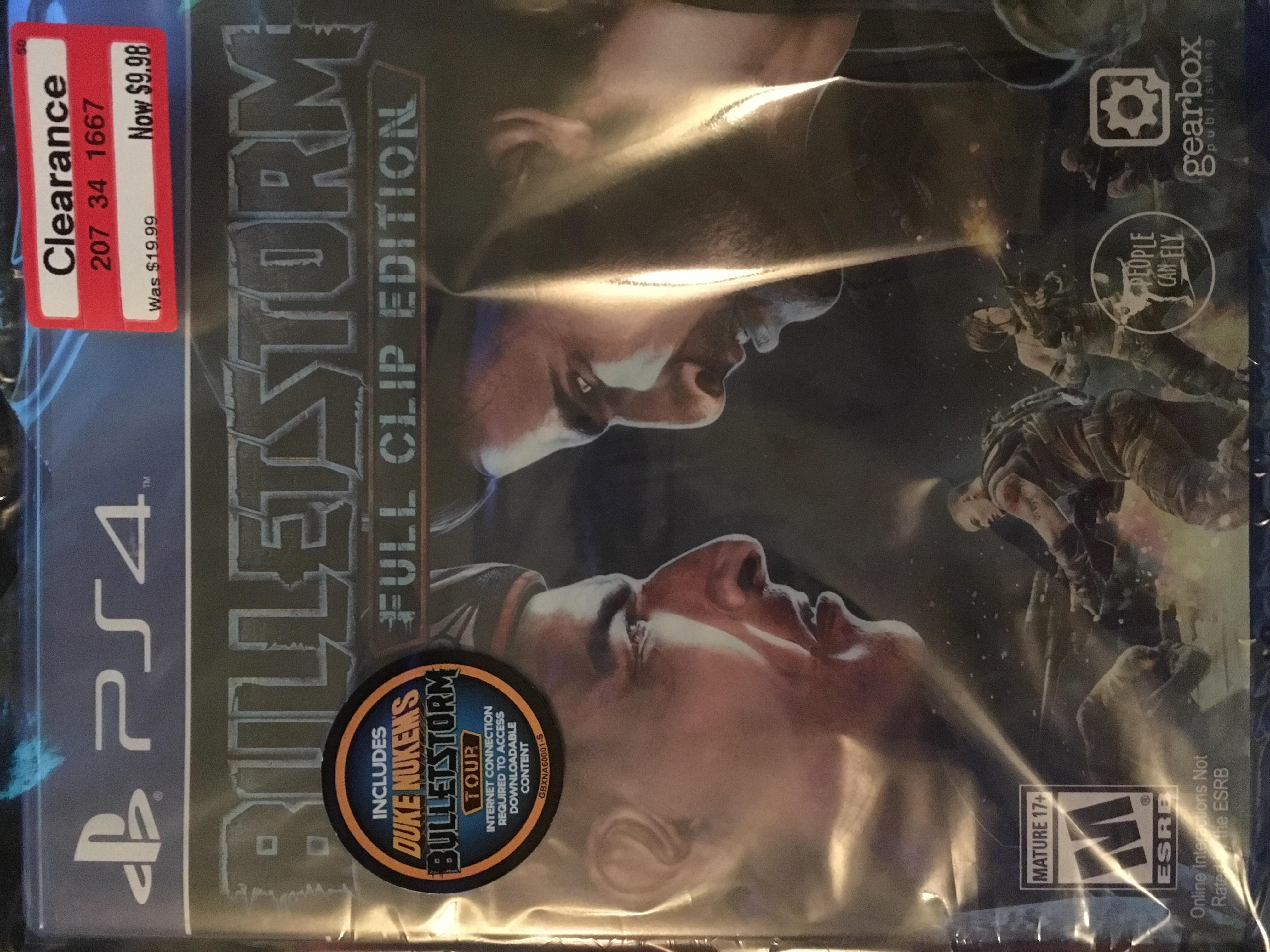 Bulletstorm PS4 clearance $9.98 Target YMMV