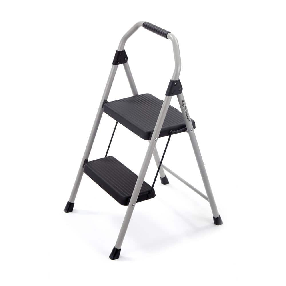 Gorilla Ladders   2-Step Compact Steel Step Stool with 225 lb. Load Capacity Type II Duty Rating 12.98 free store pickup Home Depot