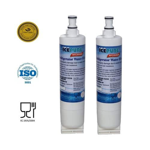 IcePure Refrigerator Replacement Water Filter, compatible with Whirlpool, Kitchenaid, Maytag 2 for $10.99 free prime shipping