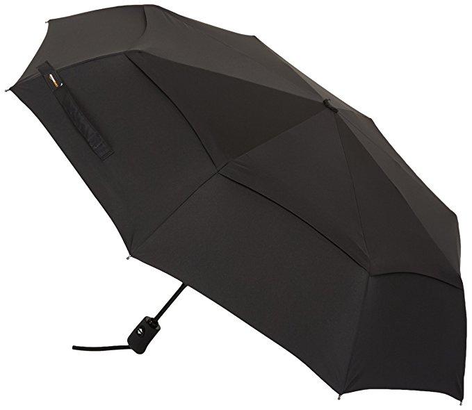 AmazonBasics Automatic Travel Umbrella, with Wind Vent, Black $14.94 (lowest price)
