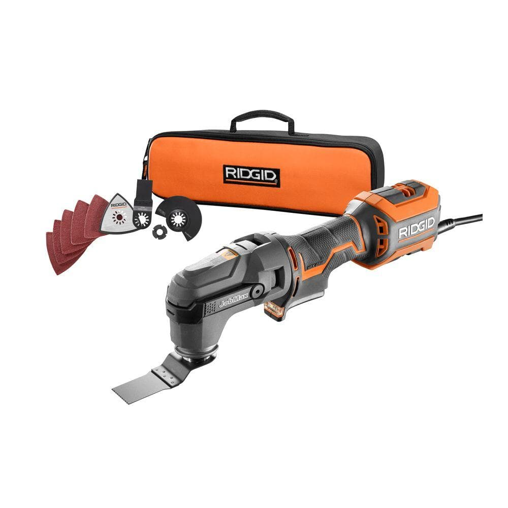 RIDGID 4 Amp Corded JobMax Multi-Tool with Tool-Free Head $79